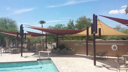 pool shade sail commercial